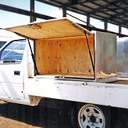 Explosives storage Day Boxes installed on ute