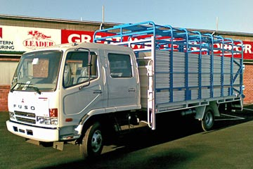 Great Western Manufacturing designed & fabricated Leader Truck Crates & Bodies.